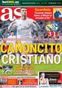 Portada diario AS del 19 de Marzo de 2014