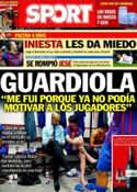 Portada diario Sport del 19 de Marzo de 2014