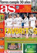 Portada diario AS del 20 de Marzo de 2014