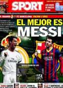 Portada diario Sport del 20 de Marzo de 2014