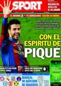 Portada diario Sport del 21 de Marzo de 2014