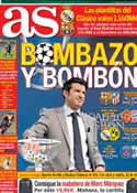 Portada diario AS del 22 de Marzo de 2014