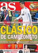 Portada diario AS del 23 de Marzo de 2014
