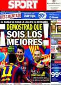 Portada diario Sport del 23 de Marzo de 2014