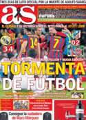 Portada diario AS del 24 de Marzo de 2014