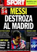 Portada diario Sport del 24 de Marzo de 2014