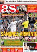 Portada diario AS del 25 de Marzo de 2014