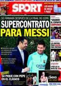 Portada diario Sport del 25 de Marzo de 2014