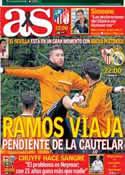 Portada diario AS del 26 de Marzo de 2014