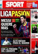 Portada diario Sport del 26 de Marzo de 2014