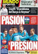 Portada Mundo Deportivo del 26 de Marzo de 2014