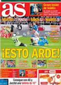 Portada diario AS del 27 de Marzo de 2014
