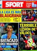 Portada diario Sport del 27 de Marzo de 2014