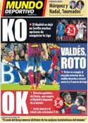 Portada Mundo Deportivo del 27 de Marzo de 2014