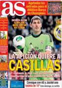 Portada diario AS del 28 de Marzo de 2014
