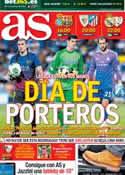 Portada diario AS del 29 de Marzo de 2014