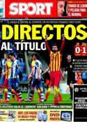Portada diario Sport del 30 de Marzo de 2014