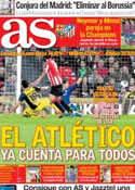 Portada diario AS del 31 de Marzo de 2014