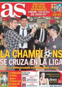 Portada diario AS del 1 de Abril de 2014