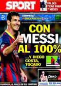 Portada diario Sport del 1 de Abril de 2014