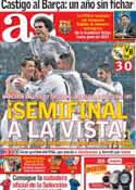 Portada diario AS del 3 de Abril de 2014
