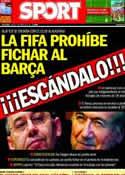 Portada diario Sport del 3 de Abril de 2014