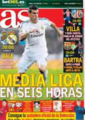 Portada diario AS del 5 de Abril de 2014