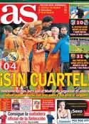 Portada diario AS del 6 de Abril de 2014