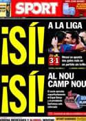 Portada diario Sport del 6 de Abril de 2014