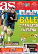 Portada diario AS del 8 de Abril de 2014
