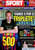 Portada diario Sport del 8 de Abril de 2014