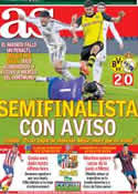 Portada diario AS del 9 de Abril de 2014