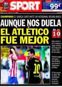 Portada diario Sport del 10 de Abril de 2014