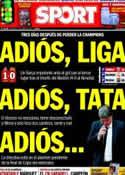 Portada diario Sport del 13 de Abril de 2014
