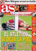 Portada diario AS del 14 de Abril de 2014