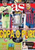 Portada diario AS del 16 de Abril de 2014