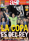 Portada diario AS del 17 de Abril de 2014