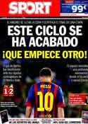 Portada diario Sport del 17 de Abril de 2014