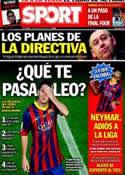 Portada diario Sport del 18 de Abril de 2014