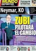 Portada Mundo Deportivo del 18 de Abril de 2014