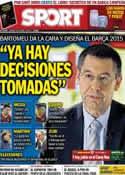 Portada diario Sport del 20 de Abril de 2014