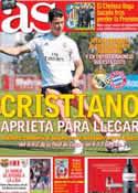 Portada diario AS del 21 de Abril de 2014