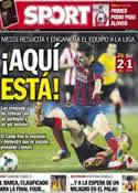 Portada diario Sport del 21 de Abril de 2014