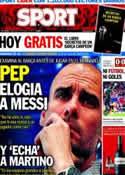 Portada diario Sport del 23 de Abril de 2014