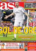 Portada diario AS del 24 de Abril de 2014