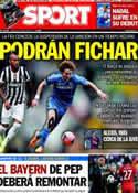 Portada diario Sport del 24 de Abril de 2014