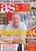 Portada diario AS del 25 de Abril de 2014