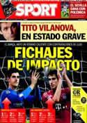 Portada diario Sport del 25 de Abril de 2014