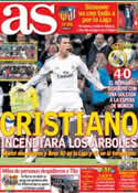 Portada diario AS del 27 de Abril de 2014