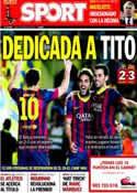 Portada diario Sport del 28 de Abril de 2014